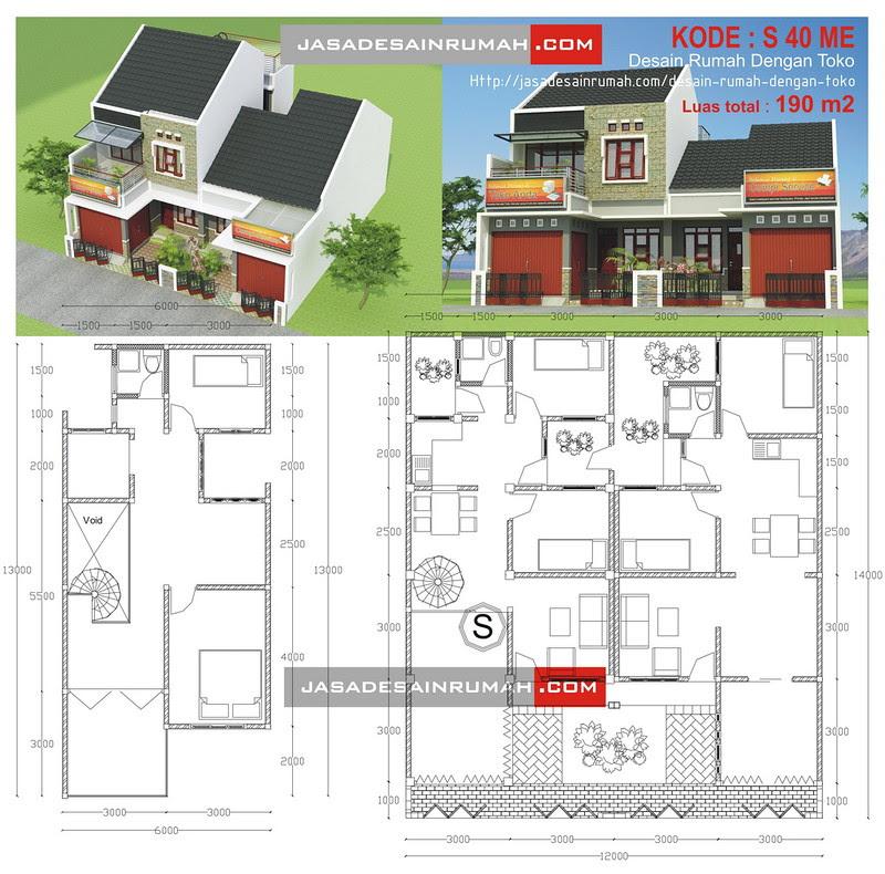 Desain Rumah dengan Toko @ Jasa Desain Rumah