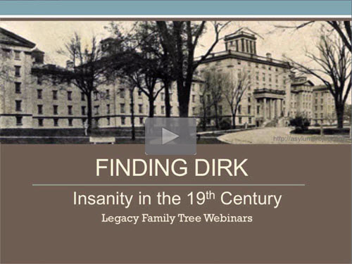 Finding Dirk: Insanity in the 19th Century