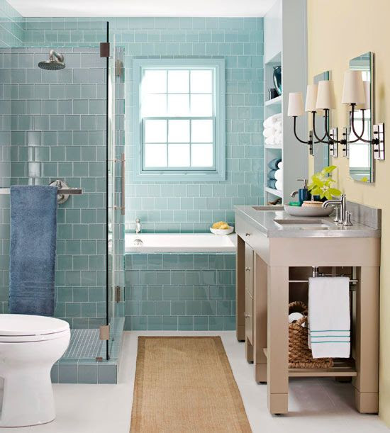 40 blue bathroom tile ideas and pictures