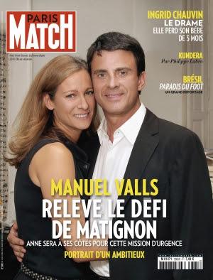 Couverture magazine Paris Match