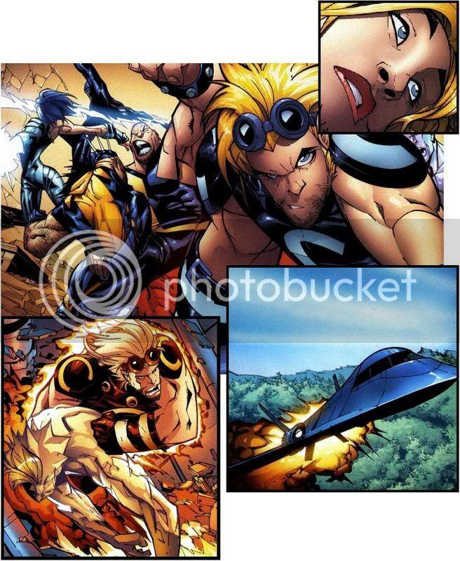 Os últimos X-men a cair...