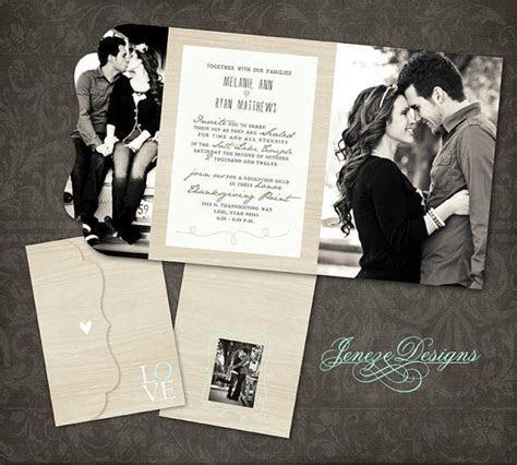Wedding Invitation   Boutique Tri Folded Design   TEMPLATE