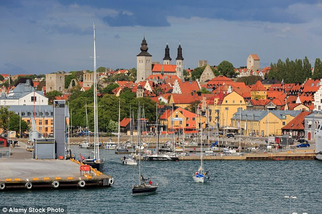A wheelchair-bound woman was gang-raped by up to six migrants at a Swedish asylum centre in Visby (pictured), Sweden, after asking if she could use their toilet, it has been reported