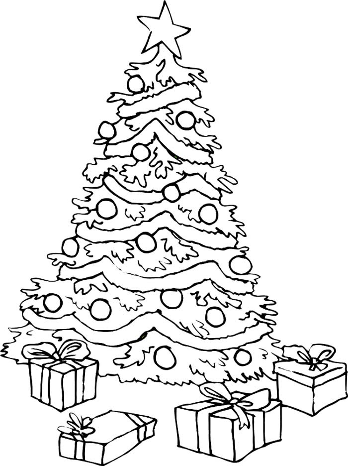 Christmas Tree With Presents Drawing at GetDrawings | Free ...