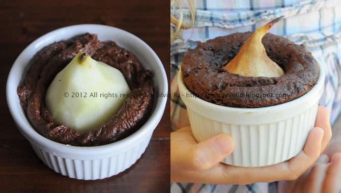tortini con cacao e pere