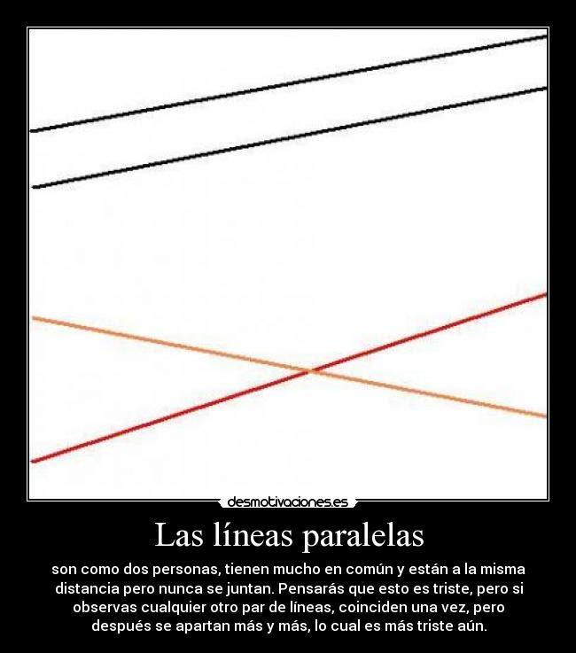 Las Líneas Paralelas Desmotivaciones