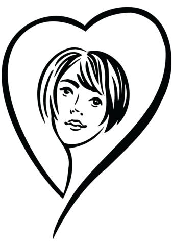 Dibujo De Mujer Enamorada Para Colorear Dibujos Para Colorear