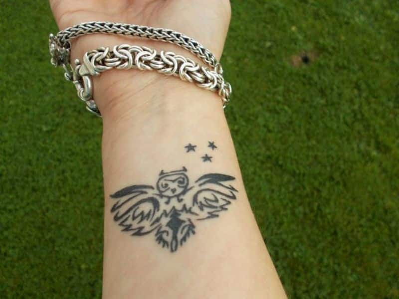 Tribal Owl Tattoo Tattoo Bytes