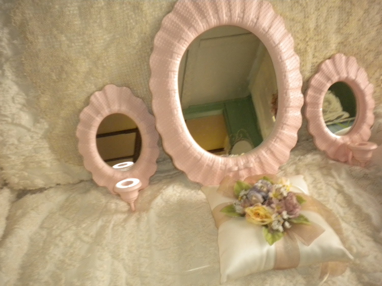 Popular items for mirror sconce set on Etsy