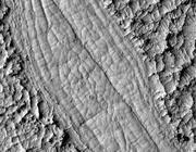 Le spirali di lava su Marte (Ap/Nasa)