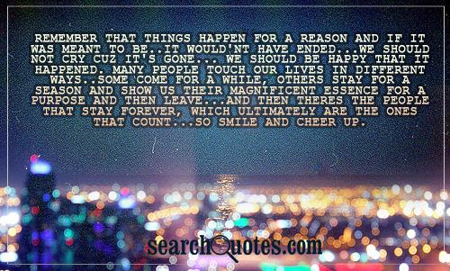 Things Happen For A Reason Quotes Quotes About Things Happen For A