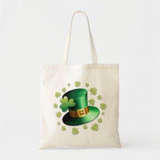 St Patrick Paddy Hat and Shamrock Bag