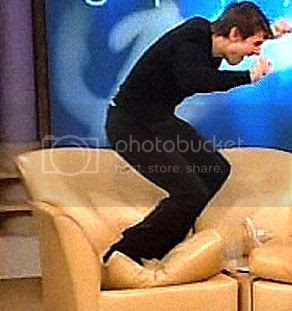 Boring religious weirdo Tom Cruise with his feet on the furniture. Ordinarily? Zzzzzz.