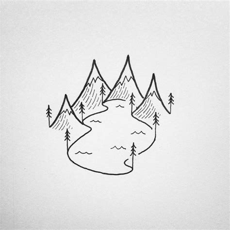 image result  drawing lake easy simple