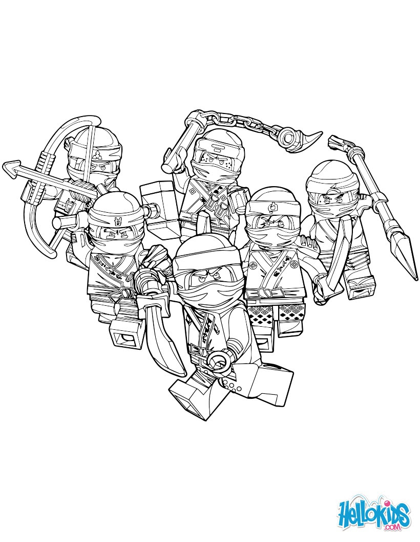 ninjago good guys coloring page jjb