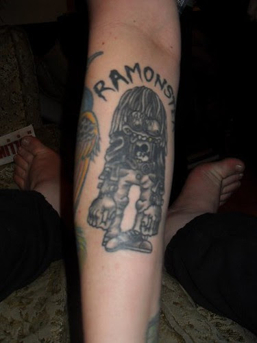 Lacey's Ramonster Tattoo