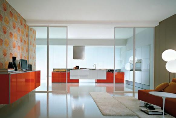 red kitchen designs