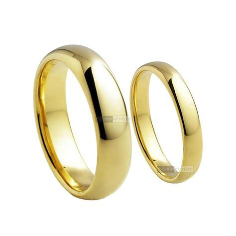 18K YELLOW GOLD GF RING MEN WOMEN WEDDING BAND ENGAGEMENT