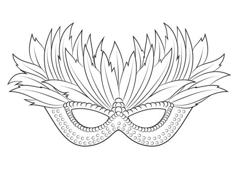 Coloriage Masque Vénitien Du Mardi Gras Coloriages à Imprimer