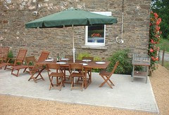 Sit out and dine or sun-bathe on the patio
