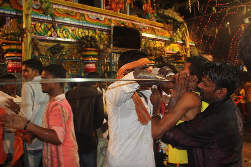 Removal Of Rods At Marriammen Temple Nehru Nagar Juhu by firoze shakir photographerno1