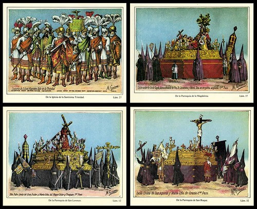 Procession of 'Pasos', Seville Holy Week (1887) a
