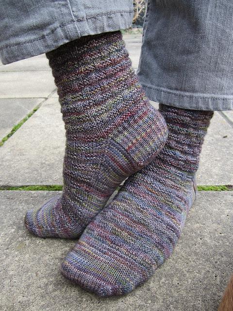 Basketweave socks 010