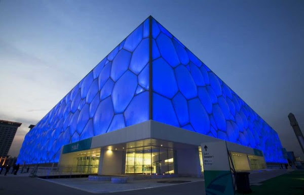 water cube beijing national swimming centre 600x386 14 Futuristic Building Designs in China