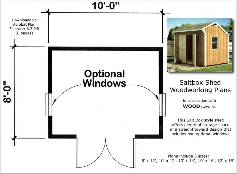 Learn free 8x10 saltbox shed plans goehs for Saltbox barn plans