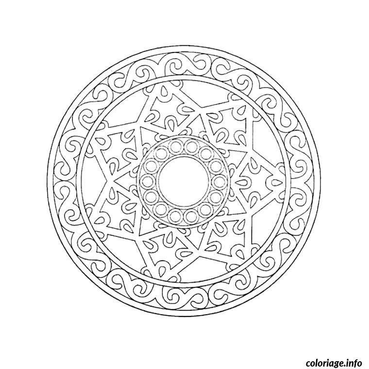 Coloriage Mandala Etoile Noel Cerle Jecoloriecom