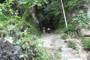 walking down padang padang beach bali