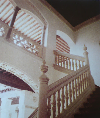 Palacio de Fuensalida en 1979. Escalera monumental