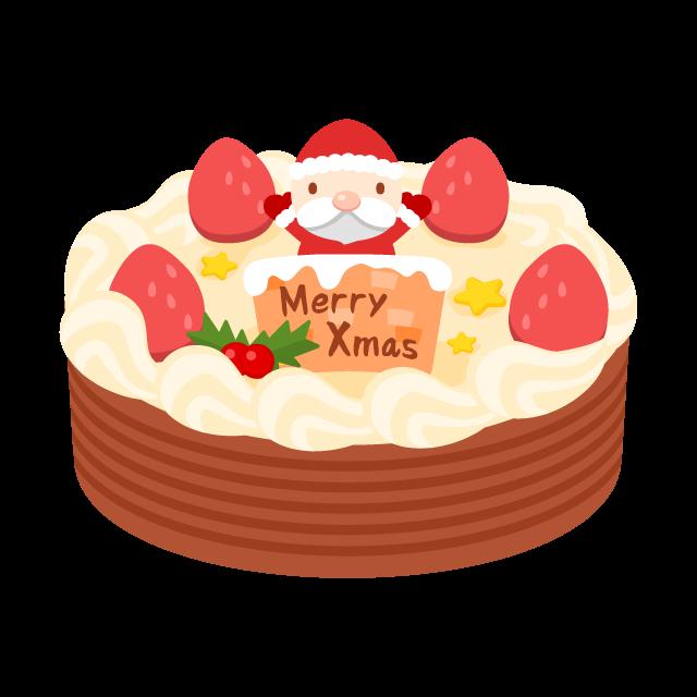 いちごとチョコのクリスマスケーキの無料ベクターイラスト素材 Picaboo ピカブー 無料ベクターイラスト素材