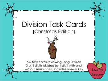 Long Division Task Cards (Christmas)