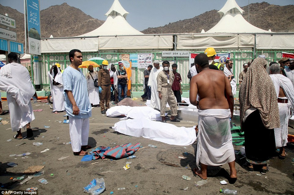 A Sudanese pilgrim in Mina said this year's Hajj was the most poorly organised of four he had attended, with people 'tripping over each other'