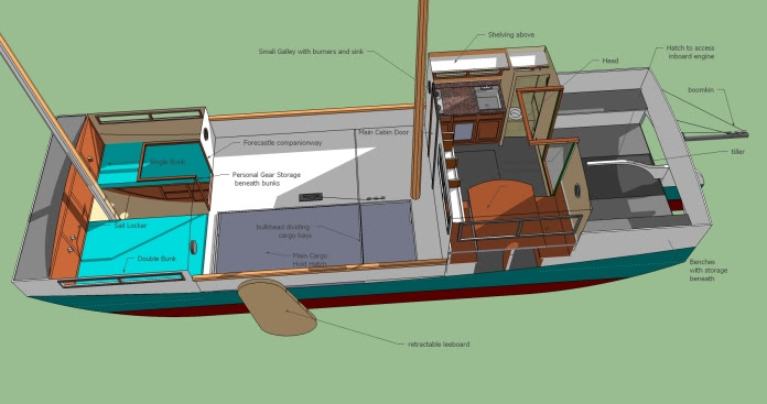 Wooden Barge Designs Building Wooden how to scale up model boat plans