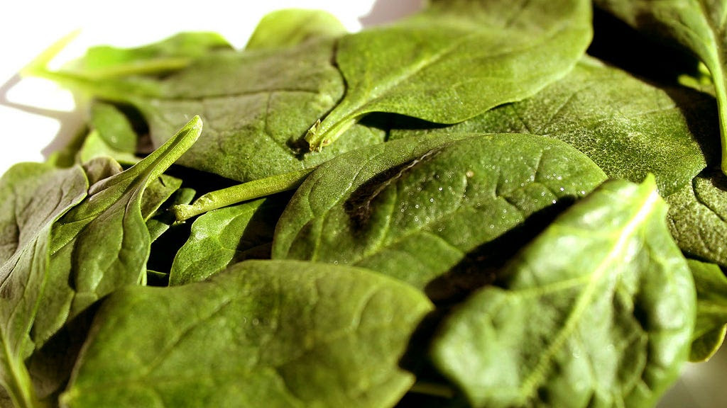 7. Take Spinach Extract