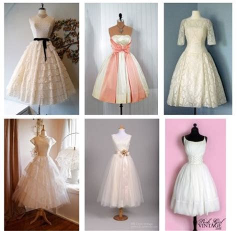 Six Great photos of 1950's style Vintage Wedding Dresses