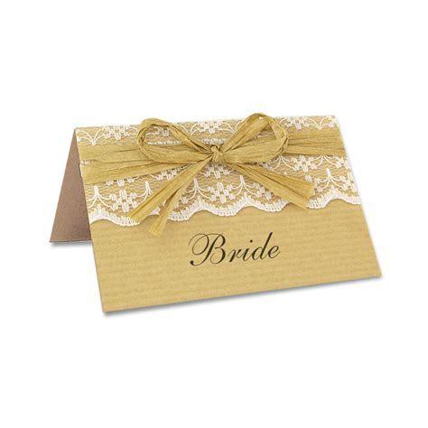 Rustic Lace Place Card   Pure Invitation Wedding Invites