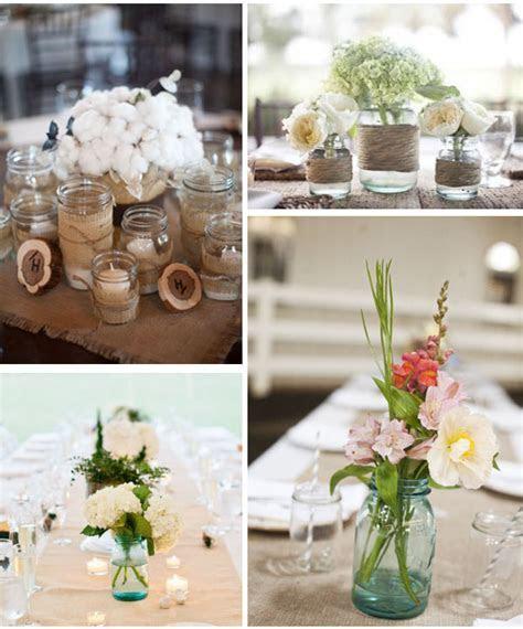 wedding jam jars table centres   UK Wedding Styling
