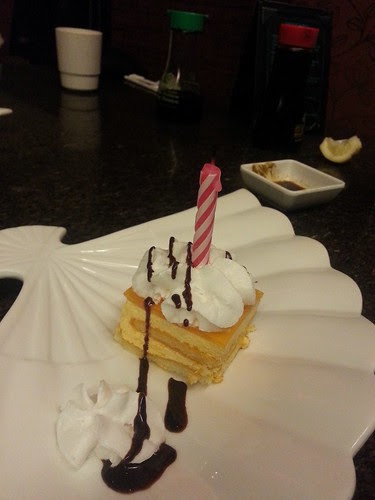 cake from Wasabi Japanese restaurant