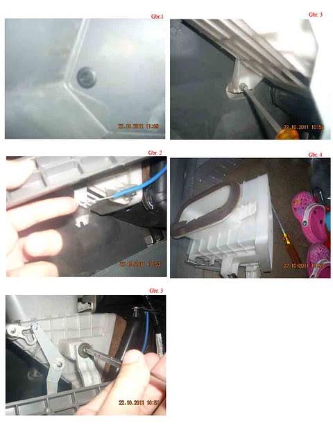 Lepaskan pengait setelan selector intake udara  DIY: Cuci Evaporator AC Karimun Kotak