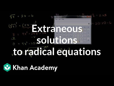 Intro To Square Root Equations Extraneous Solutions Video Khan