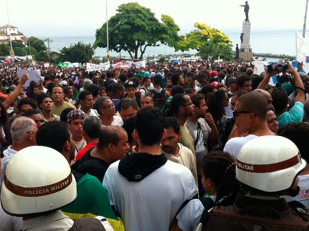 Protesto_Salvador_27 de junho (Foto: Egi Santana/G1 Bahia)