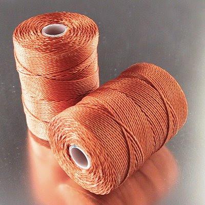 s13325 Thread -  C-Lon Bead Cord - Light Copper (Spool)