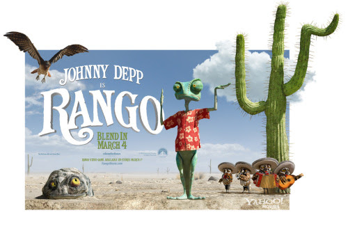 RANGO (2011)  How can I even start on assessing this movie? Firstly, I would like to comment the wonderful animation they did with this movie. The 3D animation they did here was really mind blowing. I really recommend it for those people that like to watch 3D animated movies. Secondly, I couldn't even comprehend on the storyline of this movie. It's a kids film but the way they did it is a bit PG-13. I'm not saying it has some swearing or nudity but it's a bit psychedelic even I was a bit weirded out by the movie. I guess it's because of the way they incorporated the essence of the West in the story. Thirdly, I really love the part where you seem to look at a real live animal and not an animation. I really applaud the makers of this 3D animated movie. They did a wonderful job, it was simply amazing. And lastly, I would like to applaud Mr. Johnny Depp for again, choosing the right project that'll be sure milestone for animation. He was in this movie and yet still not. Rango's voice was not Johnny Depp's but it was as if Rango was really alive. Simply amazing!  Okay. So that's basically what I think about the movie Rango. I recommend it to those who are looking for something new and mind wondering. Again, I will warn you it gets a bit psychedelic in some scenes but the story and the overall story of the film is wonderful. Go check it out in the cinemas near you. You'll appreciate it more if you watch it in the cinema, I promise!   ©RAJACOBE