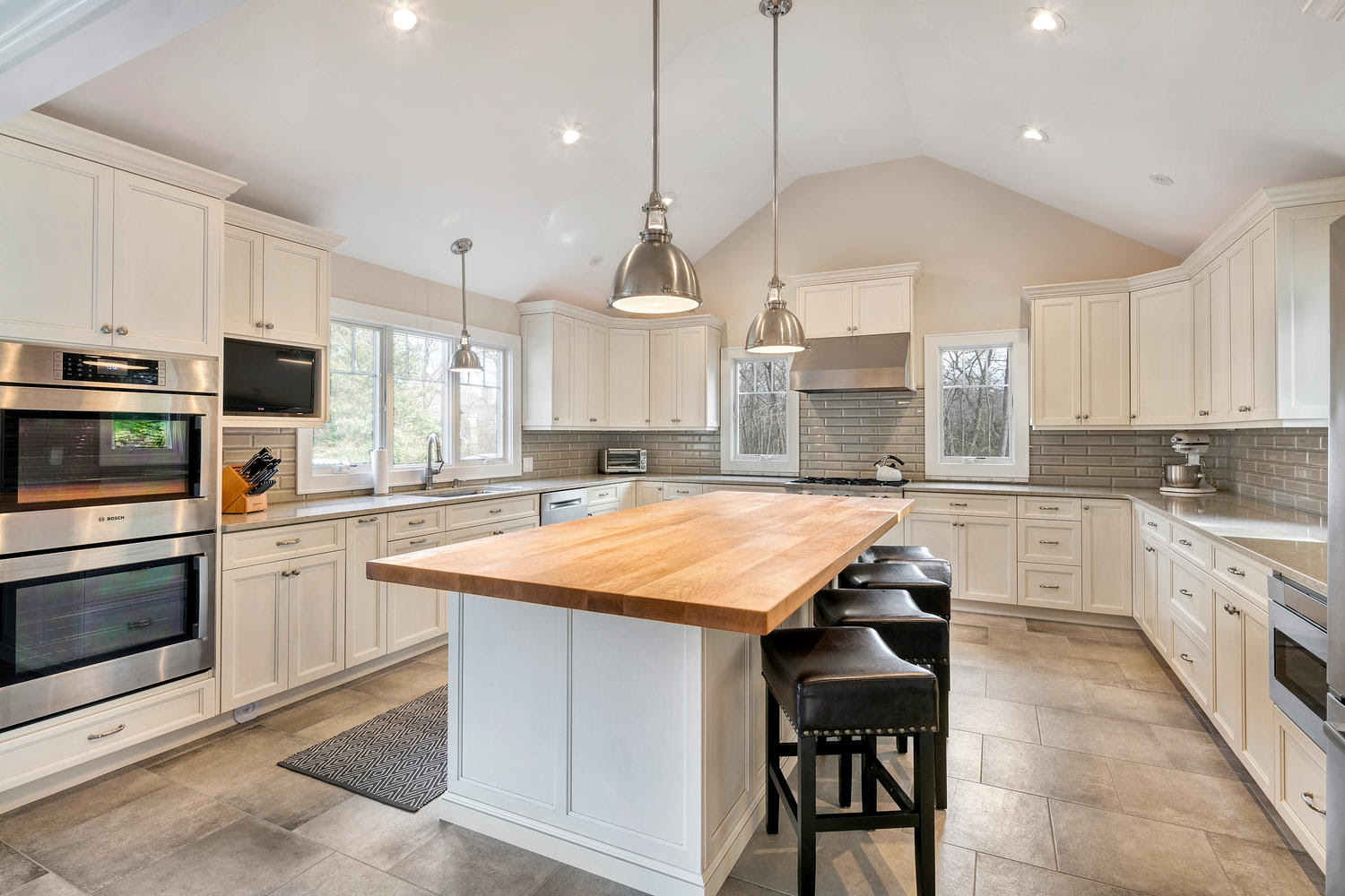 Transitional Kitchen with Cathedral Ceiling Ocean New Jersey ...