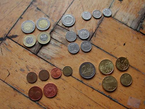Polish Złoty and Euro Coins