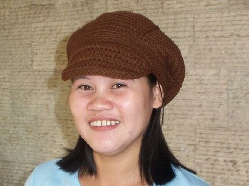 Crochet and Other Stuff: A beret cap with brim