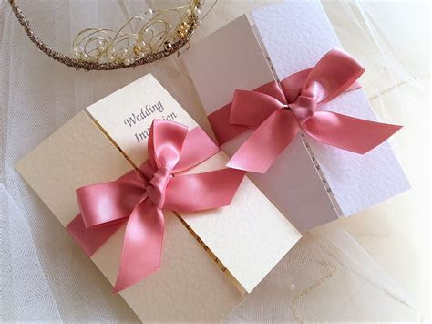 Wedding invitations with ribbon from 85p each with free